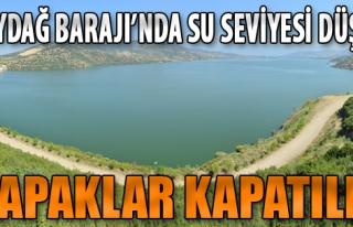 Beydağ Barajı'nda Su Seviyesi Düştü, Kapaklar...