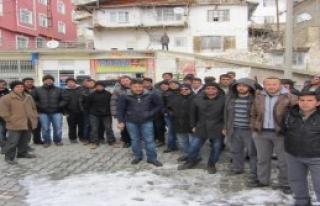 Ermenek'te 4 Aydır İşsiz Kalanlardan Tepki