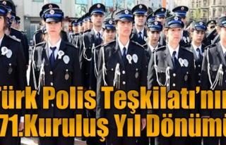 Türk Polis Teşkilatı'na Kutlama
