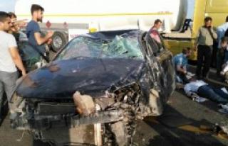 Siverek'te Otomobil Takla Attı