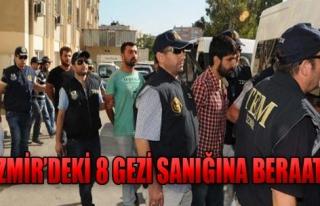 İzmir'deki 8 Gezi Sanığına Beraat