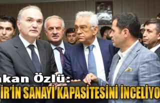 Bakan Özlü: İzmir'in Sanayi Kapasitesini İnceliyoruz
