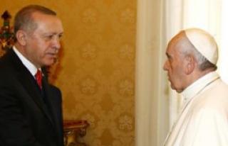 Erdoğan, Papa Francis İle Görüştü