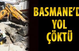 Basmane'de Yol Çöktü