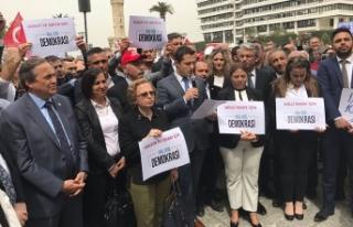 CHP İzmir'den oturma eylemi: OHAL değil, demokrasi