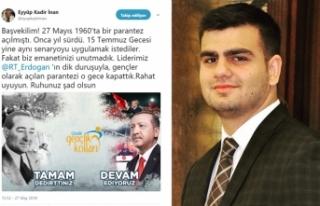 AK Gençlik, Menderes'i unutmadı
