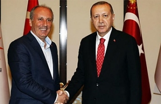 Cumhurbaşkanı Erdoğan, Muharrem İnce'yi ağırladı