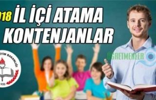 Öğretmenlerin 2018 Yılı İl İçi İsteğe Bağlı...