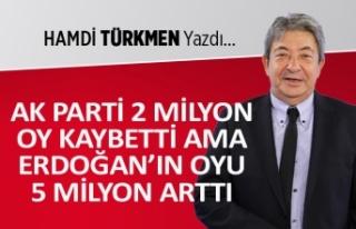 """AK Parti 2 milyon oy kaybetti ama, Erdoğan..."