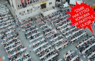 AK Parti Buca'dan 4 bin kişilik iftar