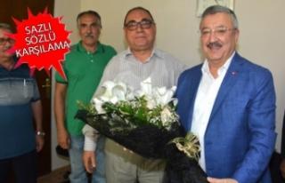 AK Partili Nasır'a esnaf odalarında sevgi seli:...
