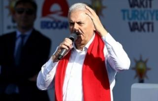 Başbakan Yıldırım: Atatürk'ün partisi teröre...