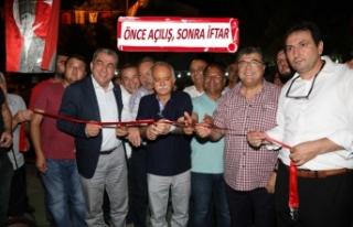 Bayraklı'da amatöre destek, açılış ve iftarla...