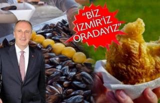 CHP İzmir'den İnce'nin mitingine boyozlu,...