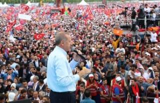 Erdoğan'dan Yenikapı'da sert mesajlar