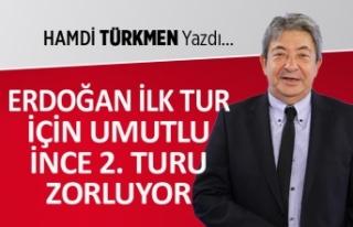 """""""Erdoğan ilk turdan umutlu, İnce 2. turu zorluyor"""""""