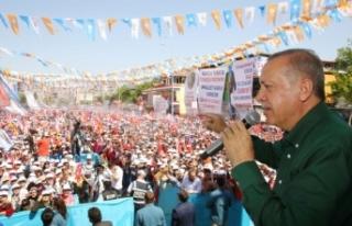Erdoğan'ın Denizli mitinginde Ödemiş krizi
