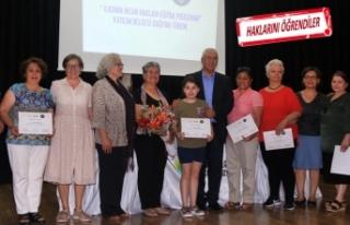 Karabağlar'da sertifika sevinci