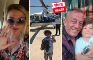 Ali Ege özledi, babası helikopterle yanına getirdi