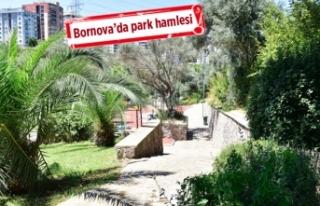 Bornova'da park hamlesi