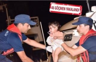 Çeşme'de 'kaçak göçmen' operasyonu!