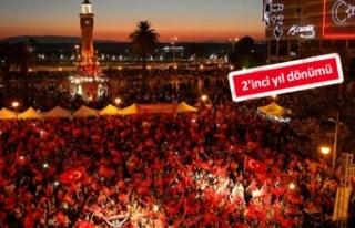 İzmir'in 15 Temmuz programı belli oldu