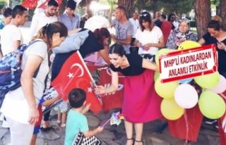 MHP'li kadınlardan farkındalık etkinliği