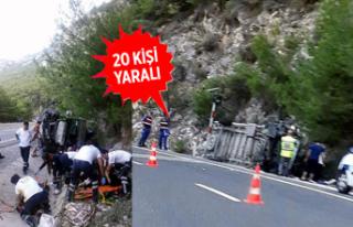 Sakar Geçidi'nde kaza: 6'sı çocuk 20...