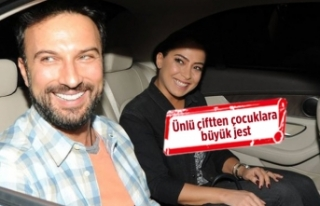 Tarkan ile Pınar Tevetoğlu'ndan çocuklara...
