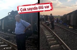 Yolcu treni devrildi. Çok sayıda ölü ve yaralı...