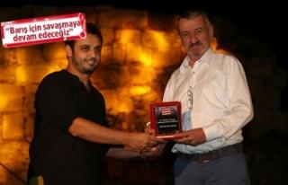 Başkan Şenol'a 'Barış' ödülü