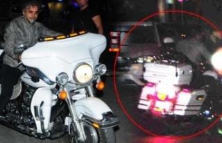 Motosikletten düştü