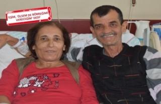 35 yıllık eşine 'can' oldu