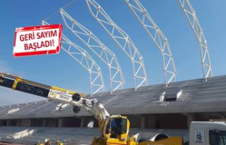 Alsancak Stadı'nın çatı montajı başladı!