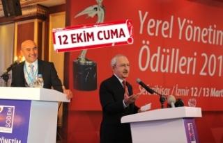 Belediye Başkanları ödüllerini Kılıçdaroğlu'ndan...