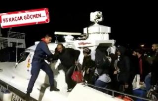 Çeşme ve Kuşadası'nda göçmen operasyonu