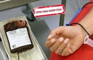 İzmir'de kan bağışı için 50 bin gönüllü...