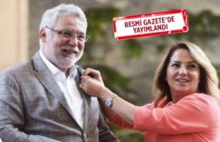 İzmir eski milletvekilinin eşi Uşak Valisi oldu!