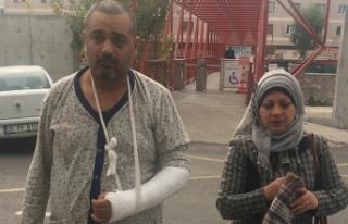Kazadan yaralı kurtulan Iraklı babanın dramı