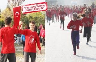 90 okuldan bin 710 öğrenci Ata'sı için koştu!