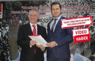 Alaattin Yüksel, İzmir için dosyasını teslim...