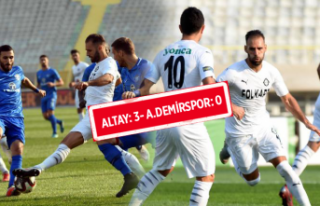 Altay evinde Adana Demirspor'u mağlup etti