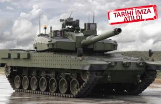 Altay tankı sözleşmesi imzalandı