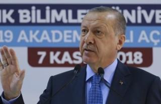 Erdoğan'dan uyarı: İkaz ediyorum