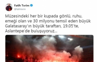 Fatih Terim'den taraftara çağrı