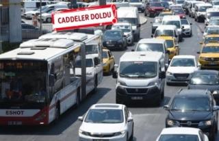 İzmir'de 1,3 milyon araç trafikte