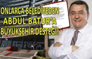 Onlarca belediye başkanından Abdül Batur'a...