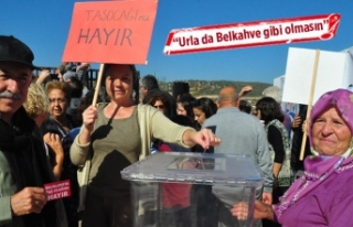 Taş ocağına temsili referandum ile 'hayır'...