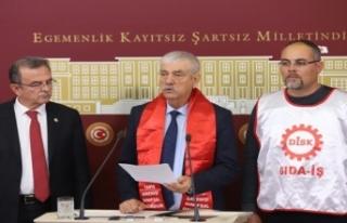 CHP'li Beko'dan 'TARİŞ işçileri'...