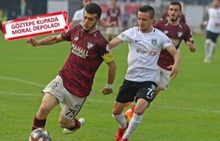 Göztepe, Nazilli'yi 3 golle yenerek kupada tur...
